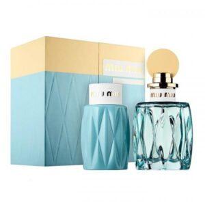 Set Apa de parfum Miu Miu Leau Bleue 100ml.100bl, Femei, SET