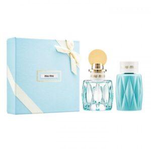 Set Apa de parfum Miu Miu Leau Bleue 50ml.100bl, Femei, SET